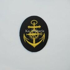 WWII GERMAN KRIEGSMARINE TORPEDO ARTIFICER BADGE ON NAVY BLUE FELT