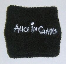 Alice In Chains.-New Logo Terry Cloth Wristband - Free Shipping To U.S.!