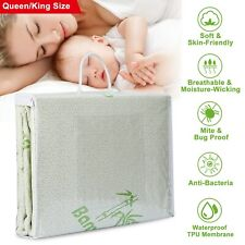 Bamboo Mattress Cover Waterproof Deep Fitted Bed Pad Protector Hypoallergenic Us