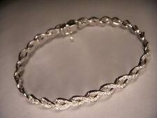 14k Gold White Gold a Diamond Tennis Bracelet