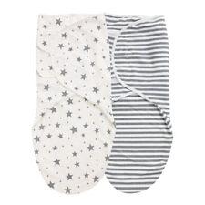 Pucksack Baby 2er Set Puck-Tuch Puck-Decke Swaddle Puckschlafsack 0-3/3-6 Monate