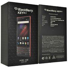 Nuevo BlackBerry KEY2 LE Dual-Sim Atómico Rojo 64GB BBE100-4 QWERTZ Celular Desbloqueado