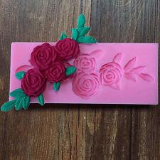 3D  Fondant Silicone Mold Sugar Craft Cake Decorating Tools Baking DIY Flowers