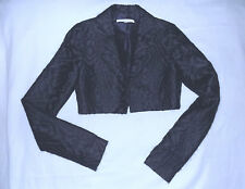BRIAN REYES-Mohair blend Bolero jacket-Size2-Silk Lined-Black & Purple-Excellent
