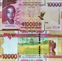 GUINEA 10000 FRANCS 2018 / 2019 P NEW UNC