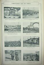 1915 TIMES of INDIA ~ CORONATION DAY IN TOKYO EMPEROR PARADE AT KYOTO TAKAMIKURA