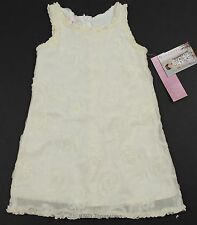Biscotti Ivory Confection Swirl Party Dress Girls NWT 4