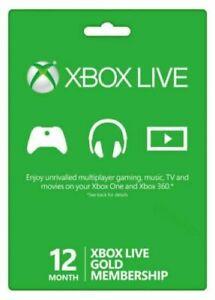 Microsoft Xbox Live Gold 12 Month Membership (EUROPE)