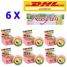 6 X Toothpaste Rasyan Thai Herbal Anti Bacteria Clove Whitening Teeth Fresh 25g