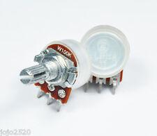 5 pcs 100KW / W100K  pot potentiometer 17mm Audio Balance center detent
