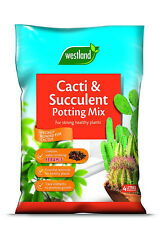 Westland 4 Litre Cacti and Succulent Potting Compost Mix Enriched with Seramis