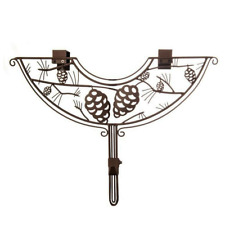 24 in. Brown Pinecone Design Adjustable Decorative Christmas Wreath Hanger