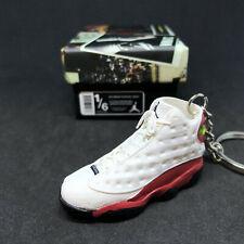 ab8029adc0a Pair Air Jordan XIII 13 Retro Cherry Red OG Sneaker 3D Keychain 1:6 Figure