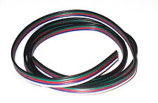 1 Metre 5-Wire LED Strip Lighting Hookup Wire : Black/Green/Red/Blue/White