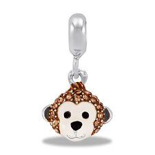 Davinci Beads Charm - CZ MONKEY FACE Dangle - Buy 2 or More DaVinci and Save!
