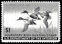 US #RW12  =  Mint-Never Hinged Federal Duck Stamp...Always Free Shipping in USA!