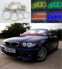 4pcs RGB Multi-Color Angel Eyes Halo Rings For BMW 3 Series E46 325ci 330ci