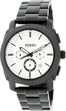 Fossil Mens Machine FS5092 Black Stainless-Steel Quartz Fashion Watch