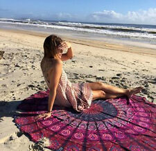 Beach Towel Bohemian Round Hippie Tapestry Throw Indian Mandala Blanket Picnic