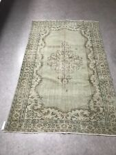 Antique White Overdyed Turkish Carpet,Floor Bohemian Vintage Rug,Handwoven Rug