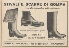 Z1889 Stivali e Scarpe di Gomma OMNIA - Pubblicità d'epoca - 1929 Old advert