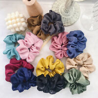 Fashion Solid Color Satin Hair Scrunchies Elastic Rubber Band Ponytail Hair Rope