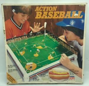Vintage 1950's Tudor Games Action Baseball Board Game Kids COMPLETE