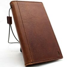 Genuine real leather case for LG G7 book wallet cover luxury vintage card brown