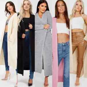 Women's Italian Ladies Chunky Knitted Long Sleeve Oversized Maxi Jumper Cardigan