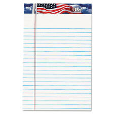 Tops American Pride Writing Pad Narrow 5 x 8 White 50 Sheets Dozen 75101