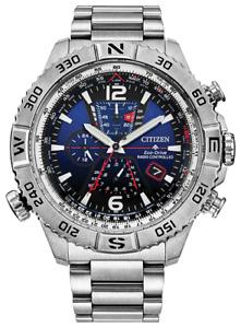 New Citizen Promaster Navihawk A-T ST Steel Blue Dial Men's Watch AT8220-55L