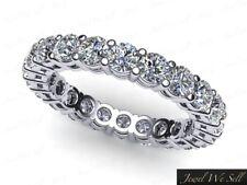 Natural 1.25Ct Round Diamond Anniversary Eternity Band Ring 10k White Gold GH I1