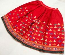 Boho Gypsy Embroidery India Kuchi Rabari Banjara Tribal Ethnic Belly Dance Skirt