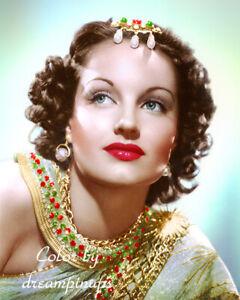 ROCHELLE HUDSON 1938 Hollywood Color Portrait EXOTIC ALLURE