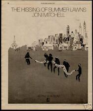"1976 JONI MITCHELL ""THE HISSING__SUMMER LAWNS"" ALBUM AD"
