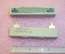 QTY (10) 1.2K Ohm 25W CEMENT WIREWOUND POWER  RESISTORS PC25-1.2K-10 IRC