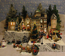 Christmas A Snow Village Display Platform Base for Dept 56 Lemax 2 pc