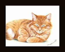 Ginger Cat Snoozing Print by I Garmashova