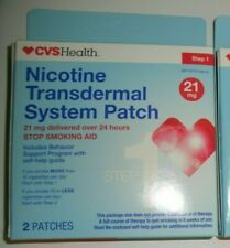 15 CVS Health Nicotine Transdermal System Patch, Step 1, 21mg total 30 patches