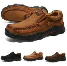 Men Faux Leather Outdoor Hiking Climbing Shoes Sports Flats Round Toe Non-slip L