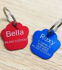 2 for $7.60! Paw Shape Dog Tag, Cat Tag, Pet tag, Free Laser Engraving & Post
