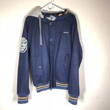 Superdry Letterman Jacket Size XXL Blue Hoodie Hooded Sweatshirt Baseball