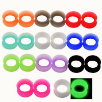 """11 PAIR SET - Soft Silicone Ear Tunnels Plugs Gauges Earlets Jewelry Lot 2g--1"""""""