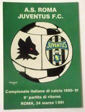 Cartolina Campionato Calcio 90-91 Roma-Juventus