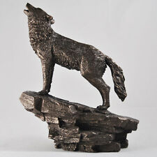 Howling Wolf Cold Cast Sculpture Bronze / Bronze Beauchamp Figurine.By