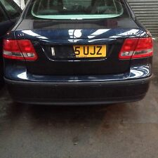 SAAB 9-3 03 - 07 SALOON REAR BUMPER WITH REVERSE SENSORS COL 290 BREAKING