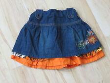 Neu Baby Girl 'S Koala Kids Blaue Jeans Rock Mit / Orange Rand 36 Monate 3T 3