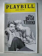 THE REAL THING Playbill JEREMY IRONS / GLENN CLOSE Tryout BOSTON 1983
