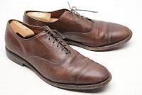 Allen Edmonds Park Avenue Mens Dress Shoes 10 D Brown Leather Cap Toe Oxford