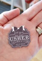 Will You Be My Best Man, Usher,  Groomsman?' Cute Mini bottle tags. Personalised
